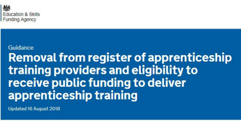 Removal from register of apprenticeship training providers
