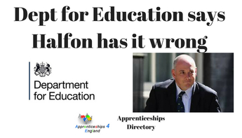 DfE says Halfon got it wrong, See Robert's Answer to DfE public blog