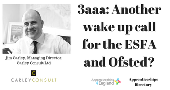 3aaa: Another wake up call for the ESFA and Ofsted?