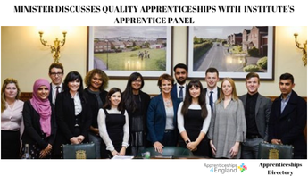 MINISTER DISCUSSES QUALITY APPRENTICESHIPS WITH INSTITUTE'S APPRENTICE PANEL