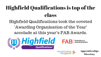 PRESS RELEASE: Highfield Qualifications is top of the class (Apprenticeships Directory)
