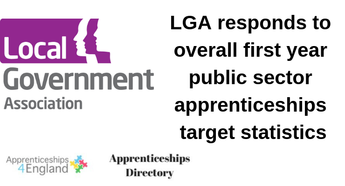 LGA responds to overall first year public sector apprenticeships target statistics
