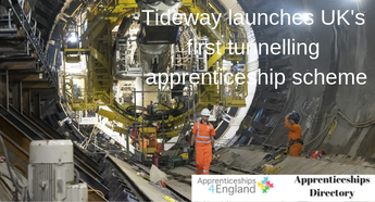 Tideway launches UK's first tunnelling apprenticeship scheme