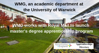 WMG works with Royal Mail to launch master's degree apprenticeship program