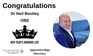 Dr Neil Bentley, who has led WorldSkills UK since 2015, received an OBE today for services to equality in business.