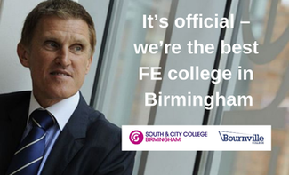 It's official – we're the best FE college in  Birmingham (Apprenticeships Directory)
