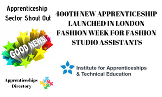 400TH NEW APPRENTICESHIP LAUNCHED IN LONDON FASHION WEEK FOR FASHION STUDIO ASSISTANTS
