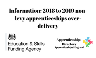 Information: 2018 to 2019 non-levy apprenticeships over-delivery