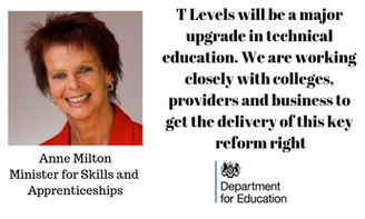 T Levels will be a major upgrade in technical education. We are working closely with colleges, providers and business to get the delivery of this key reform right