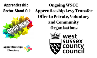 Ongoing WSCC Apprenticeship Levy Transfer Offer to Private, Voluntary and Community Organisations