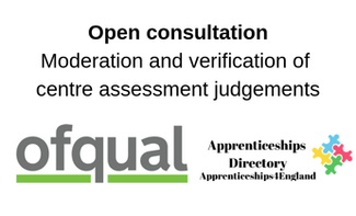 Open consultation  Moderation and verification of centre assessment judgements