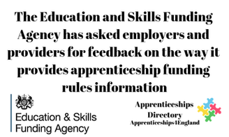 The Education and Skills Funding Agency has asked employers and providers for feedback on the way it provides apprenticeship funding rules information