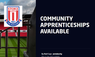 COMMUNITY APPRENTICESHIPS AVAILABLE