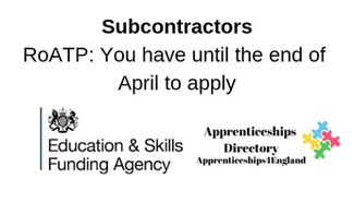 RoATP: Subcontractors you have until the end of April to apply
