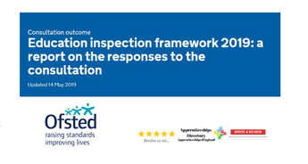 Education inspection framework 2019: a report on the responses to the consultation (apprenticeships directory)