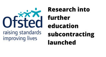 Research into further education subcontracting launched