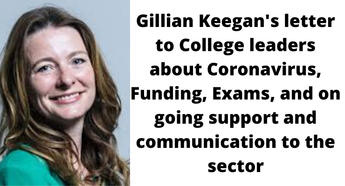 Gillian Keegan, Minister for Apprenticeships and Skills: letter to college leaders
