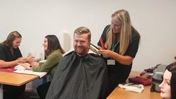 Probation staff enjoy hair and beauty treatments to highlight Adult Education courses on offer