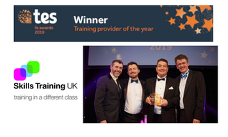 Skills Training UK win 'Training Provider of the Year' at Tes FE Awards 2019