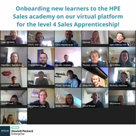 On-boarding remote learners onto the HPE Sales Academy