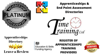 Delighted to welcome Time Training Platinum Member Apprenticeships Directory