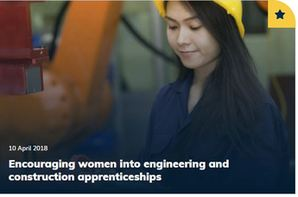 Encouraging women into engineering and construction apprenticeships
