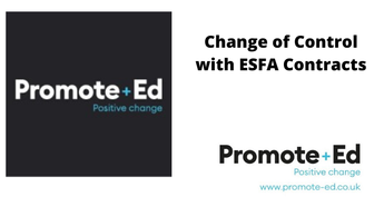 Change of Control with ESFA Contracts