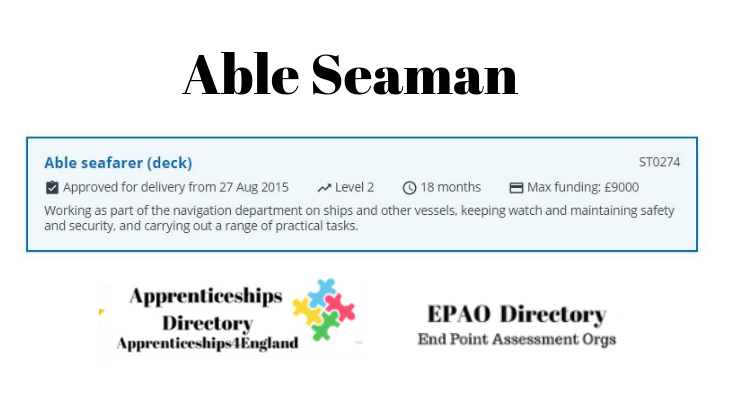 Able Seaman Level 2 Apprenticeships