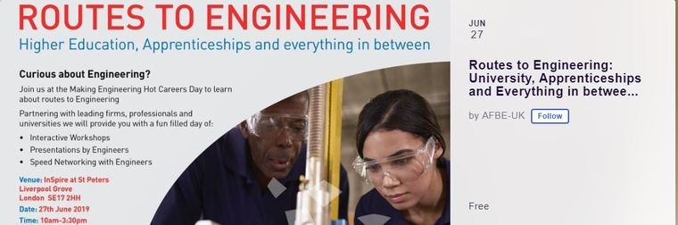 Routes to Engineering: University, Apprenticeships and Everything in between..