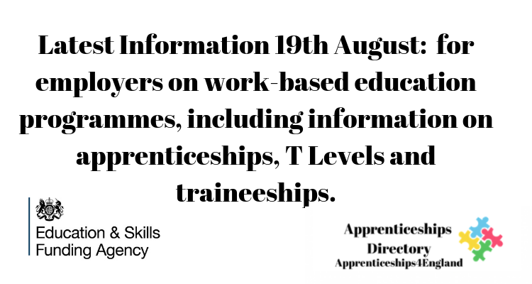 Information for employers on work-based education programmes, including information on apprenticeships, T Levels and traineeships.