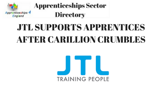 JTL SUPPORTS APPRENTICES AFTER CARILLION CRUMBLES