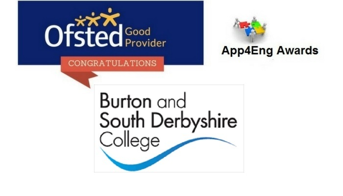 Congratulations: Burton and South Derbyshire College​, Ofsted Good