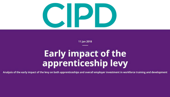 Early impact of the apprenticeship levy
