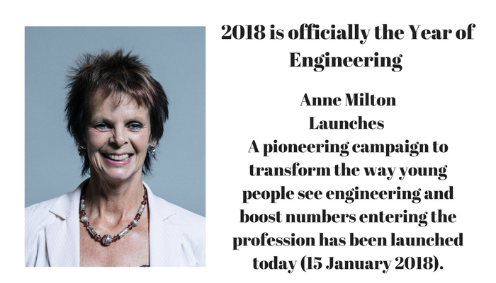 Anne Milton: Launches The Year of Engineering, 15 Jan 2018
