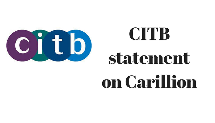 CITB statement on Carillion