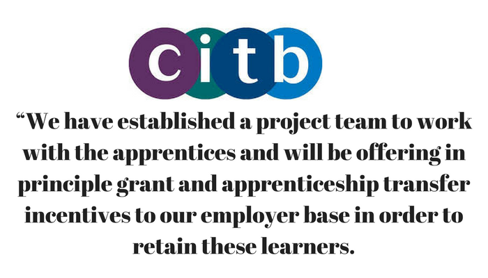 Carillion: CITB statement and support for apprentices