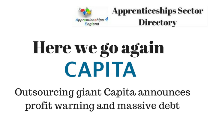 Outsourcing giant Capita announces profit warning and massive debt