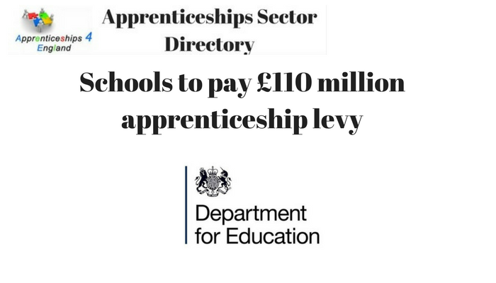 Schools to pay £110 million apprenticeship levy