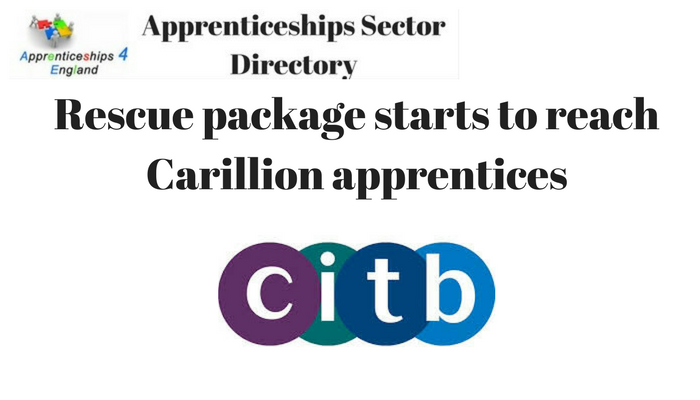 Rescue package starts to reach Carillion apprentices