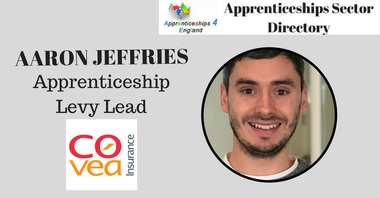 Covéa Insurance has appointed Aaron Jeffries to the newly created role of apprenticeship levy lead