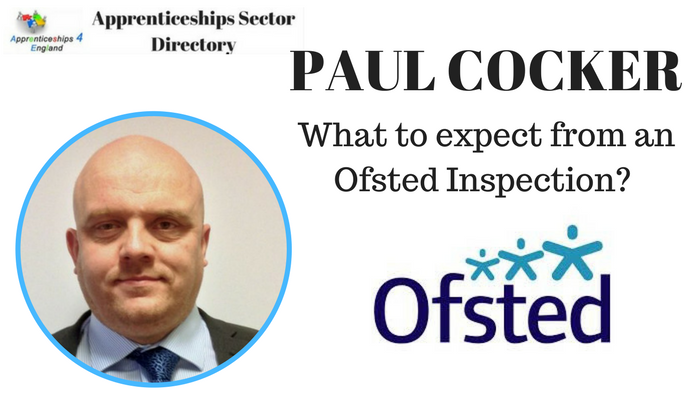 Paul Cocker, HMI, Further Education and Skills, on a four-day national inspection of apprenticeships