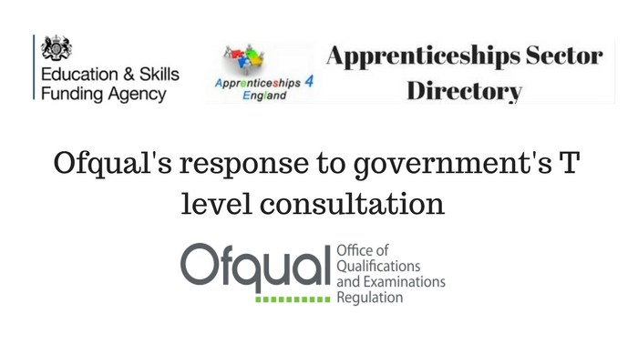 Ofqual's response to government's T level consultation