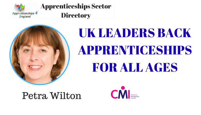 UK LEADERS BACK APPRENTICESHIPS FOR ALL AGES