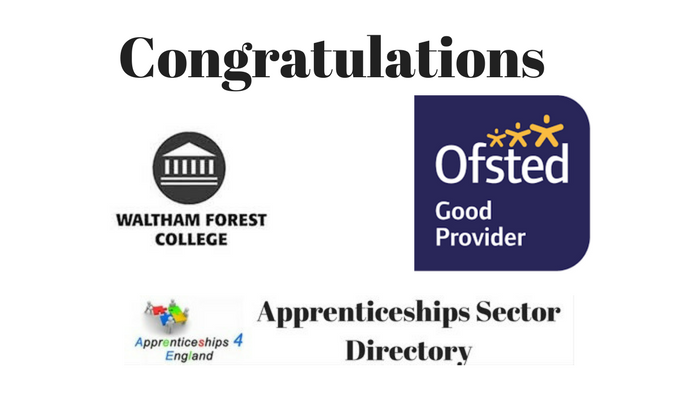 Congratulations Waltham Forest College
