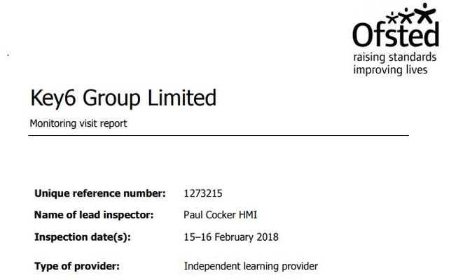 The first training provider visited as part of Ofsted's increased focus on new apprenticeship training providers was found to have made insufficient progress in all areas.