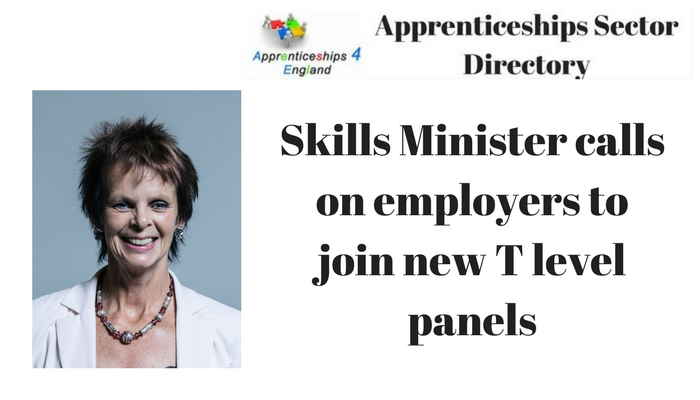 Skills Minister calls on employers to join new T level panels