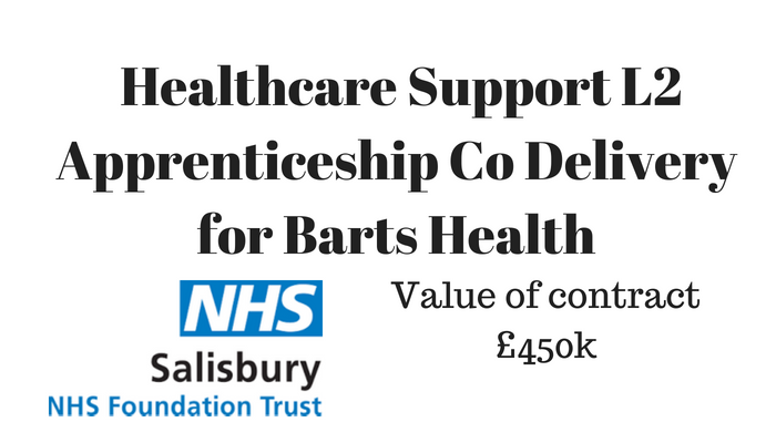 Healthcare Support L2 Apprenticeship Co Delivery For Barts