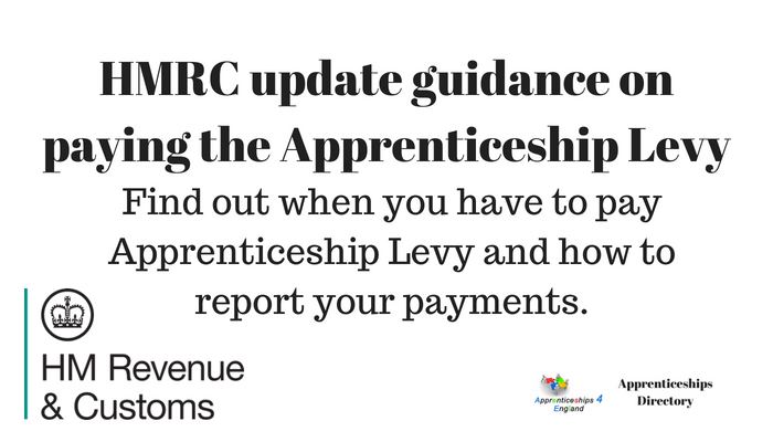 HMRC update guidance on paying the Apprenticeship Levy