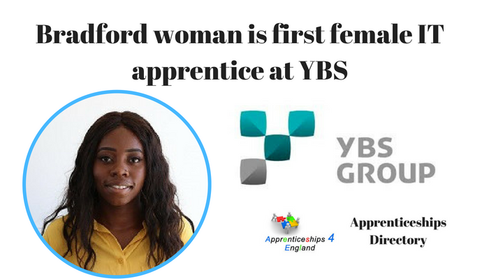 Bradford woman is first female IT apprentice at YBS