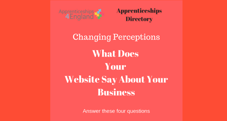 What does your website say about your business (Apprenticeships Directory)